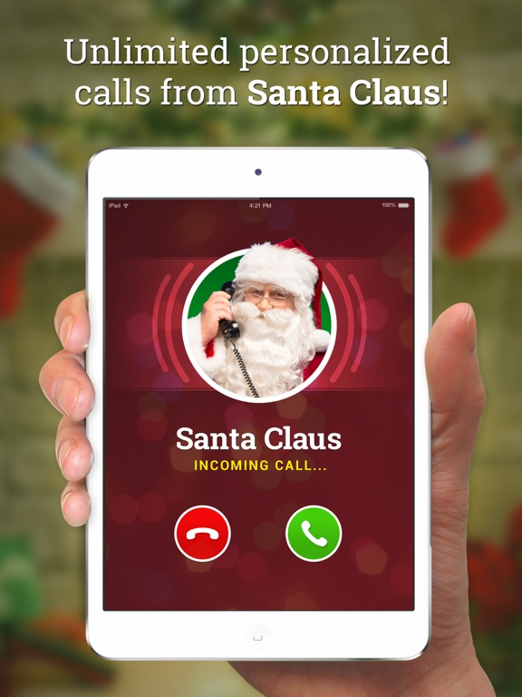 iPad Image of Message from Santa!