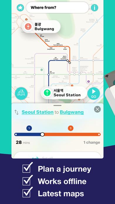 Seoul Metro Subway Map screenshot three