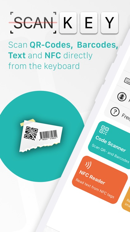 ScanKey - QR OCR NFC Keyboard screenshot-0
