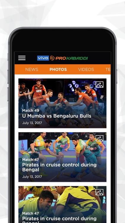 vivo Pro Kabaddi Official App screenshot-4