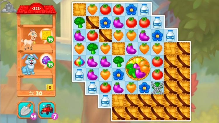 Granny's Farm: Match-3 Game screenshot-9