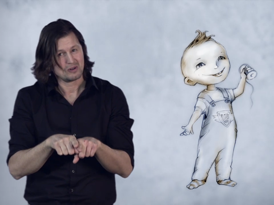Alf Prøysen på tegnspråk iPad