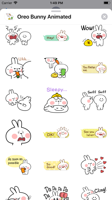 Oreo Bunny Animated screenshot 4