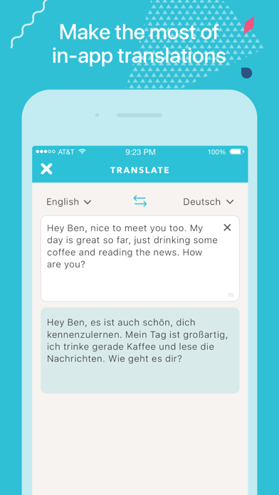 Screenshot for Tandem - Language Exchange in Viet Nam App Store
