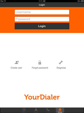YourDialer - náhled