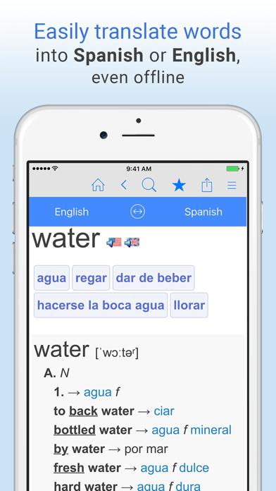 English+Spanish Dictionary screenshot one
