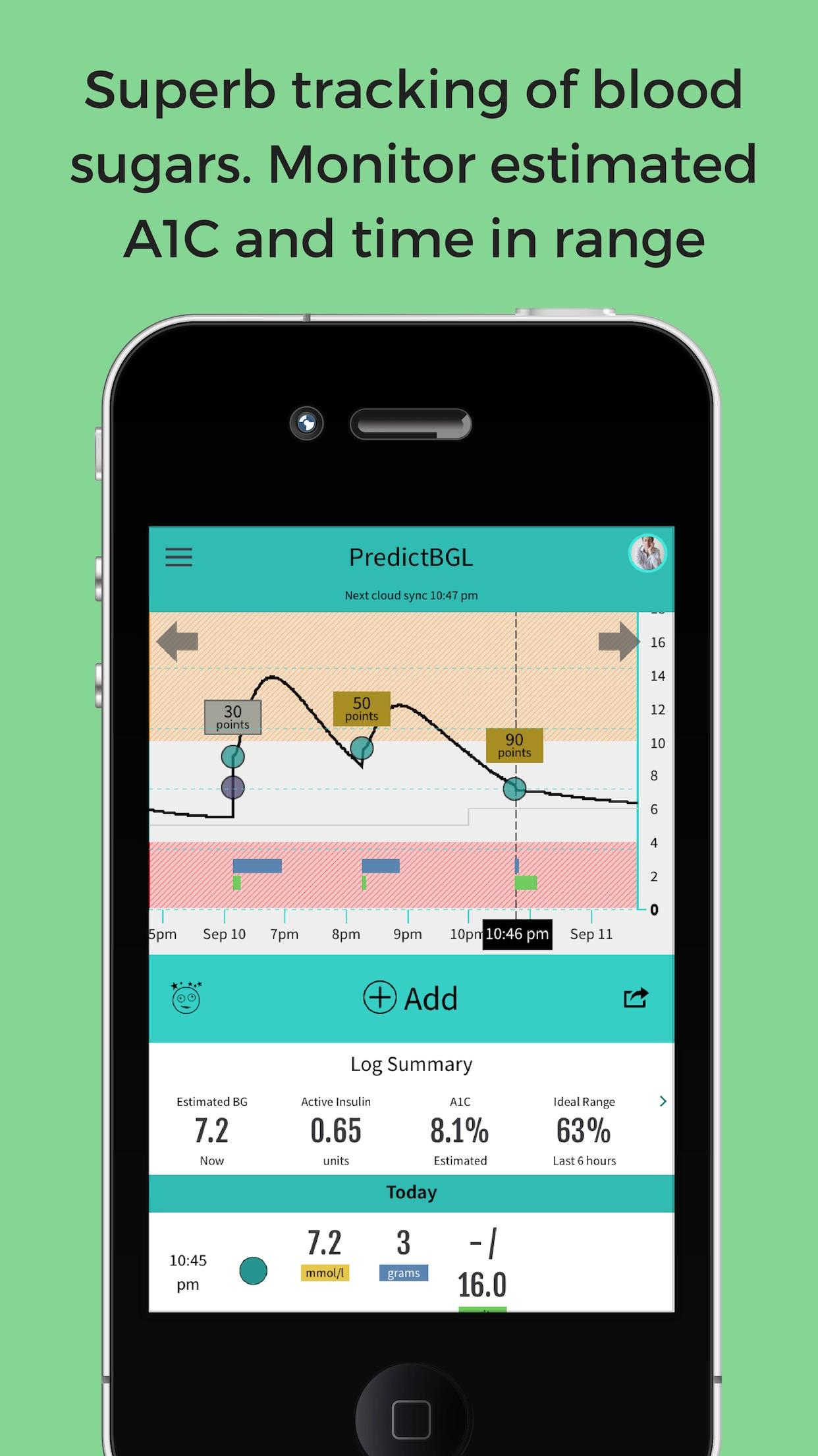 PredictBGL Insulin Dose Calc Screenshot
