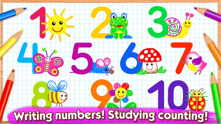 Learn Drawing Numbers for Kids screenshot-0