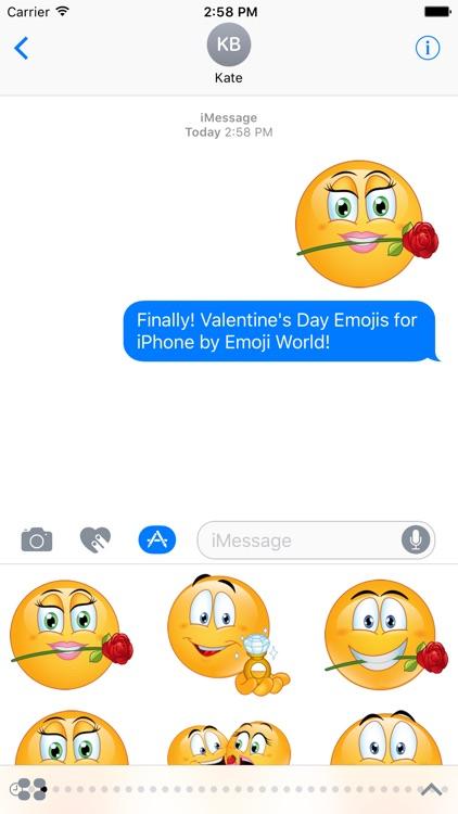 Valentine's Day Emoji Stickers screenshot-3