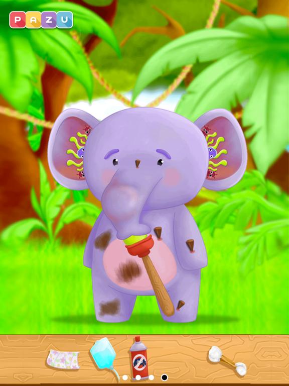 子供向けのジャングル獣医ゲーム Animal Doctorのおすすめ画像4