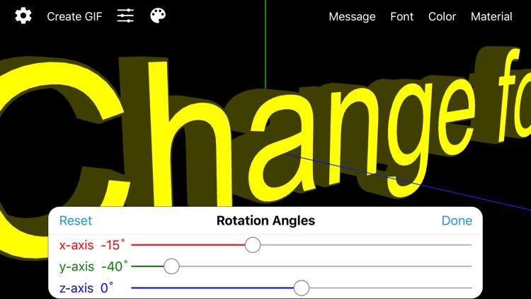 Banner 3D - scrolling text app screenshot-3