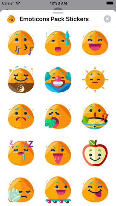 Emoticons Pack Stickers app image