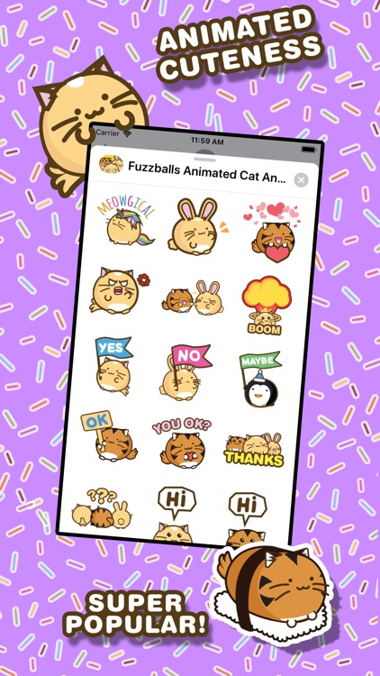 Fuzzballs Animated Stickers screenshot-3