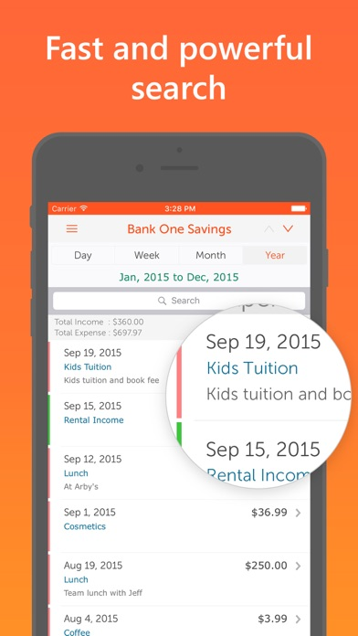 Screenshot #2 pour Easy Spending Expense Tracker