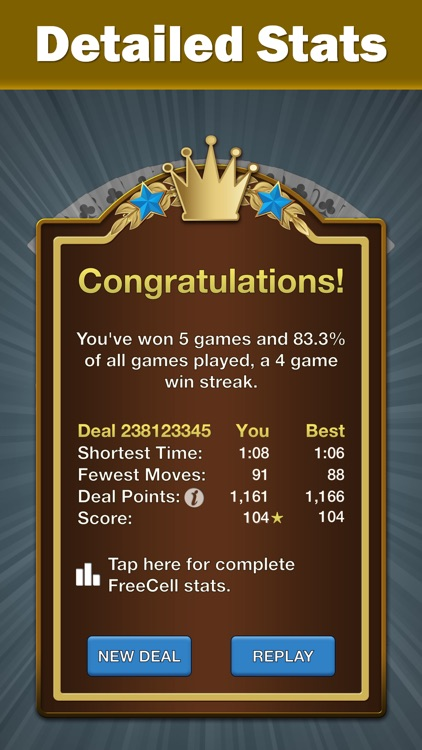 FreeCell Solitaire by Solebon screenshot-3