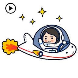 Animated Astronaut Sticker