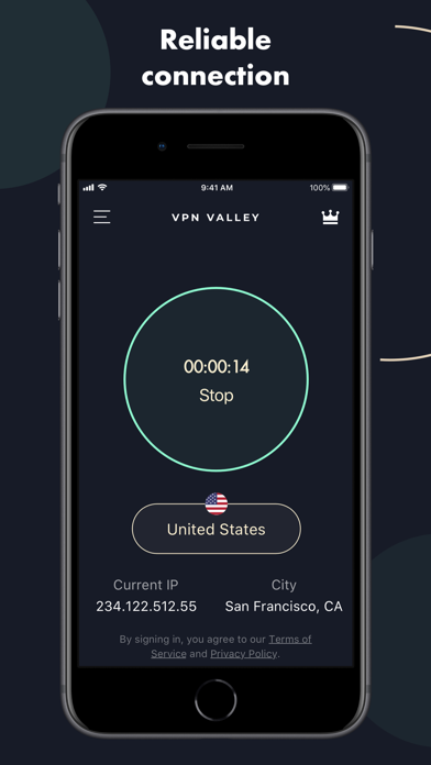 VPN Valley - Security, Protect Screenshot