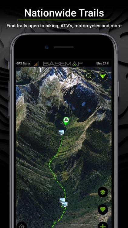 BaseMap: 3D Hunting GPS Maps screenshot-5
