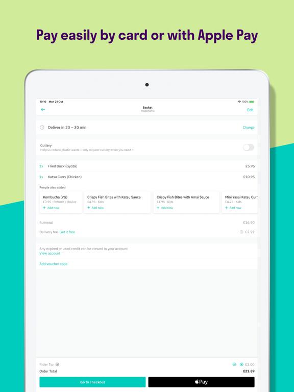 Deliveroo screenshot