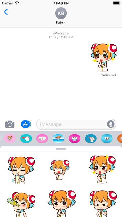 Little Girl Gif Stickers
