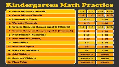 Kindergarten Math Practice 1