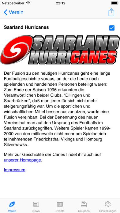 Screenshot #1 pour Saarland Hurricanes