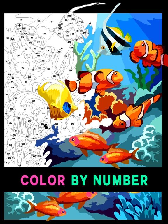 Раскраска по номерам - цифрам на iPad