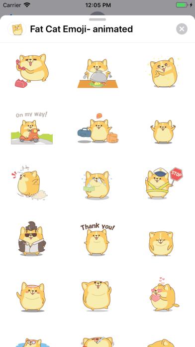 Fat Cat Emoji- animated screenshot 1