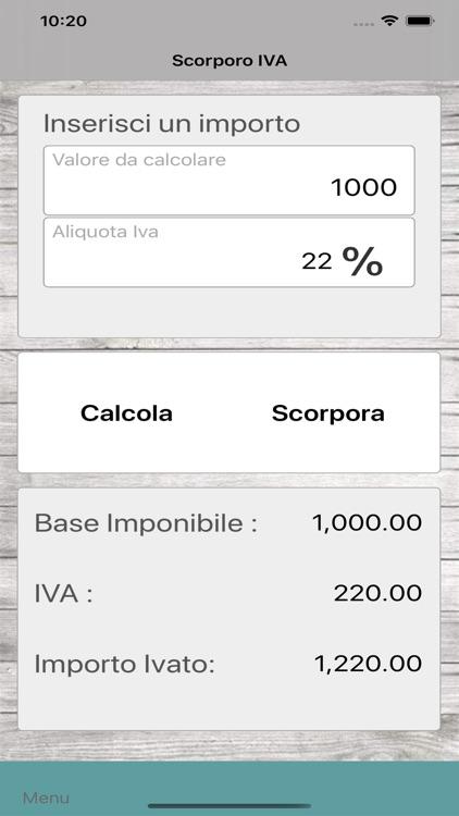 Scorporo e conteggio IVA
