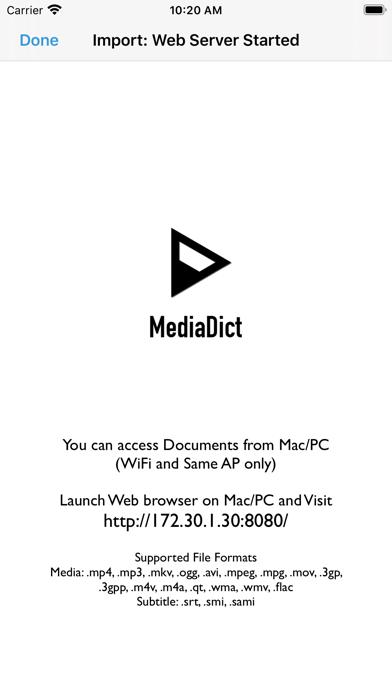 MediaDict Screenshots