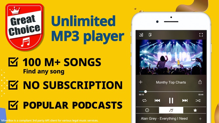 Unlimited Music MP3 Player:MB3 screenshot-0