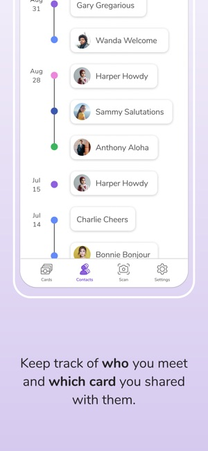 HiHello: Contact Exchange Screenshot