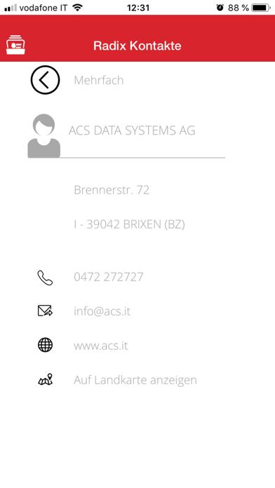 Screenshot of RadixContact2
