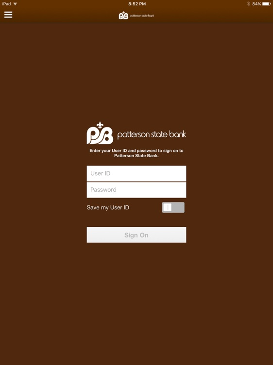 Patterson State Bank for iPad
