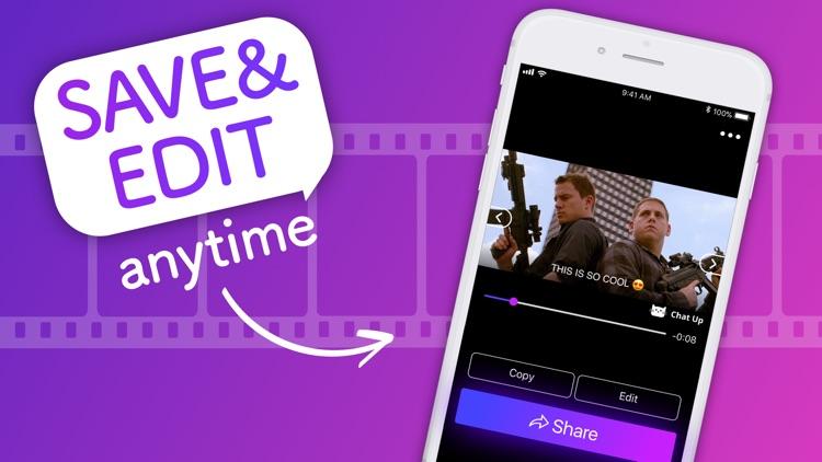 ChatUP - Text & emoji to video screenshot-5