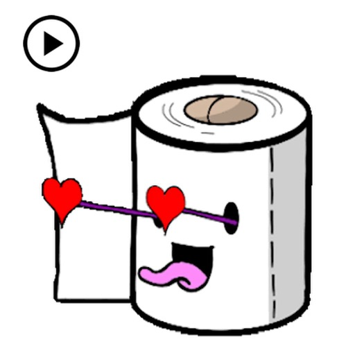 Animated Toilet Paper Sticker