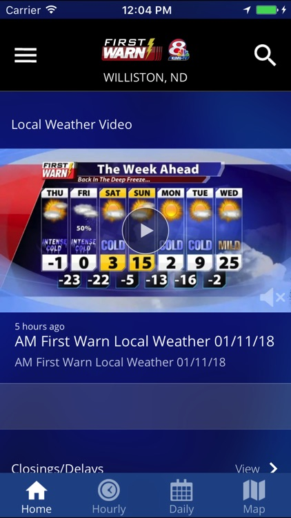 KUMV-TV First Warn Weather screenshot-2