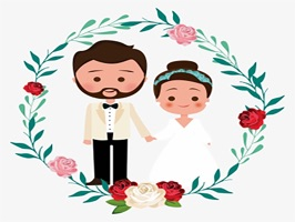 The WeddingMS is a small sticker, which are show the 25 Wedding sticker in cartoon