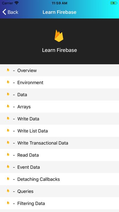 Learn Firebase [PRO] screenshot 4