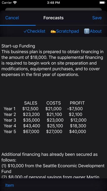 Business Plan screenshot-5