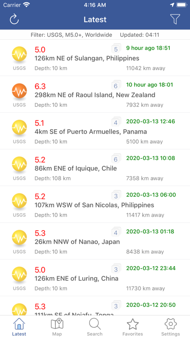 messages.download Earthquakes  - Latest & Alert software