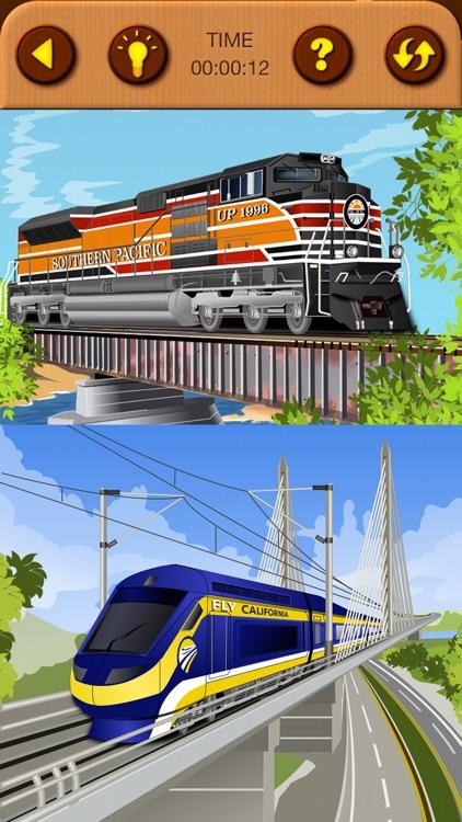 Train Jigsaw Puzzles for Kids screenshot-8
