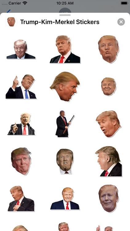 Trum-Kim-Merkel Stickers