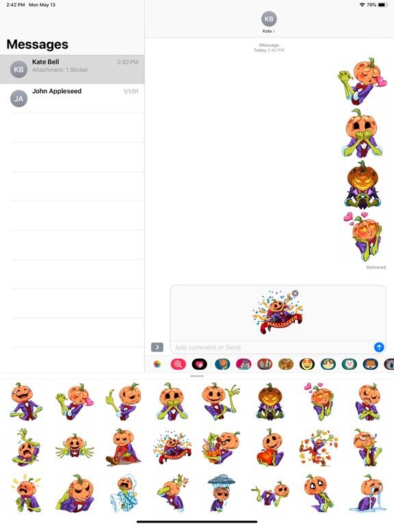 Pumpkin Halloween Stickers screenshot 6