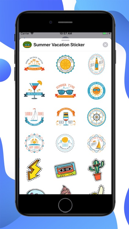 Summer Vacation Chill Stickers