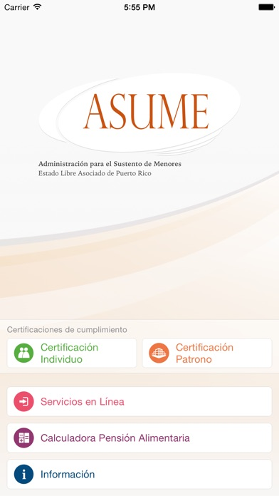 Screenshot for ASUME in Mexico App Store
