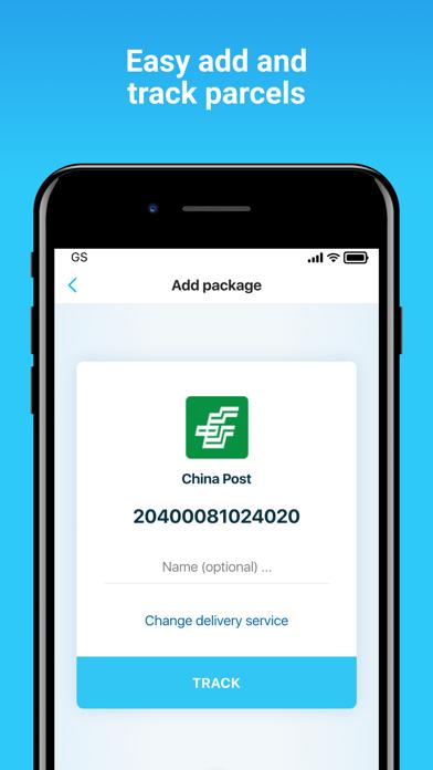 Package Tracker - pkge.net Screenshot