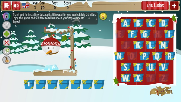 Christmas Hangman Deluxe screenshot-0
