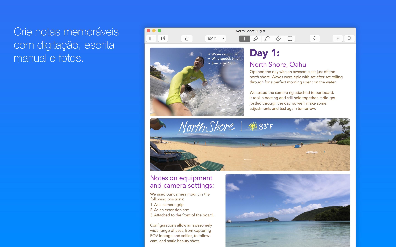 Screenshot do app Notability