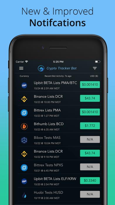 Screenshot #3 pour Crypto Tracker Bot & Portfolio